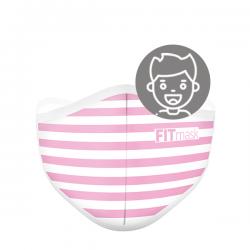 Mascarilla FITmask Pink Stripes - Niño