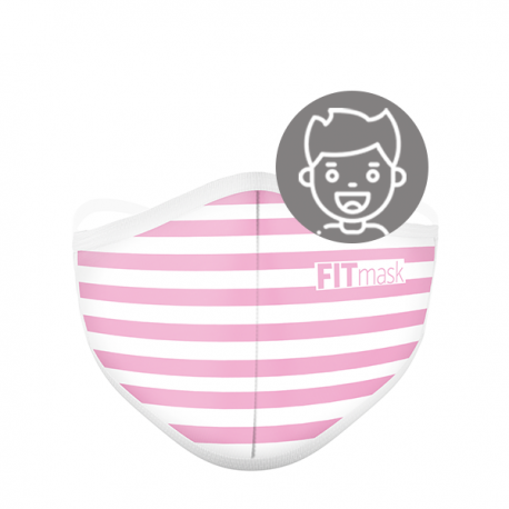 FITmask Pink Stripes - Niño