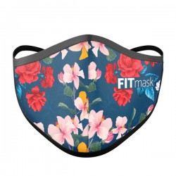 Mascarilla FITmask Floral Dark - Adulto
