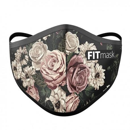 Mascarilla FITmask Black Roses - Adulto