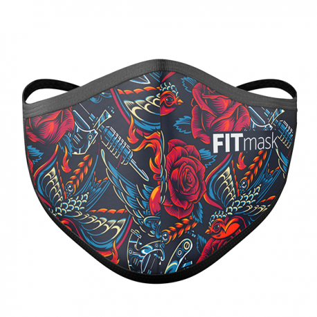 Mascarilla FITmask Vintage Tattoo - Adulto