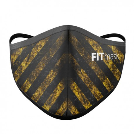 Mascarilla FITmask PRO Danger Yellow - Adulto
