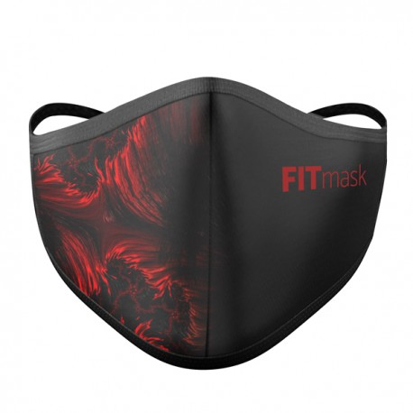 Mascarilla FITmask PRO Red Fractal - Adulto