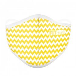 Mascarilla FITmask Chevron Yellow - Adulto