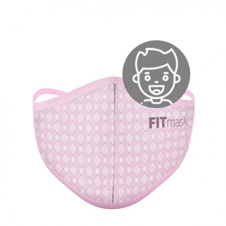 Mascarilla FITmask PRO Geometric Pink - Niño