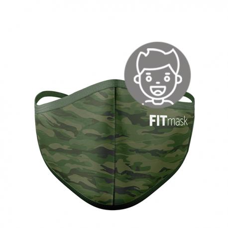 Mascarilla FITmask PRO Green Camo - Niño